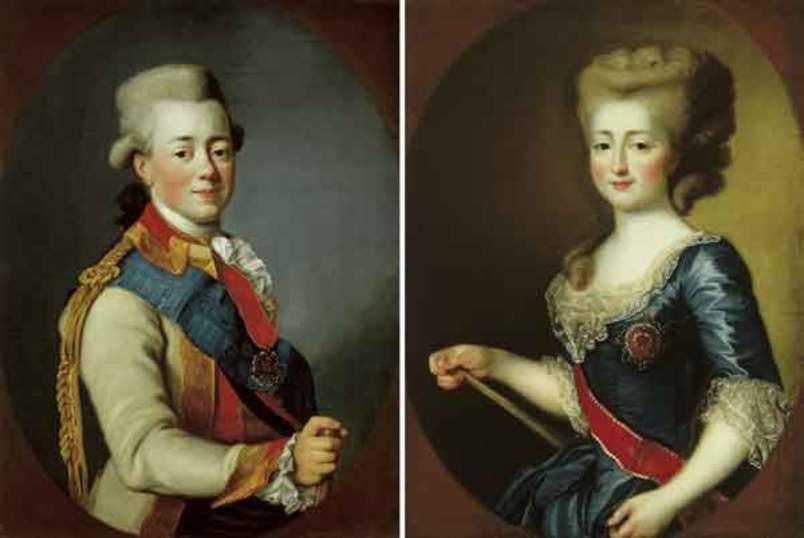 Портреты Павла и Софии Доротеи. <br>