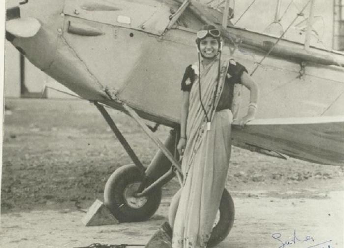 Первая женщина в Индии, которая получила лицензию пилота.