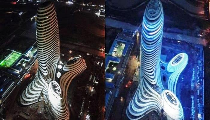 Такая форма здания вызывает весьма пикантные ассоциации.