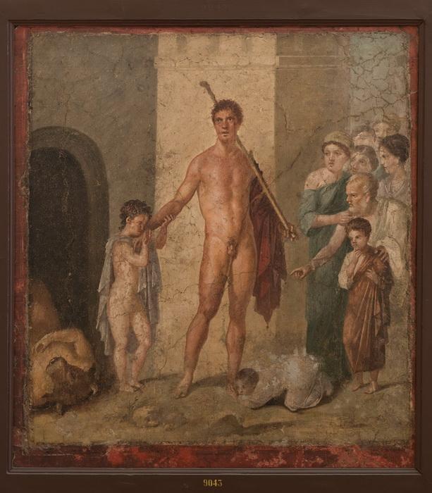 Афиняне благодарят Тесея после убийства Минотавра (фреска из города Помпеи)